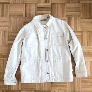 TOPSHOP off white denim jacket